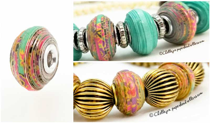 Euro-Style Rounded Paper Bead