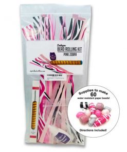 Paper Bead Making Kit – Pink Zebra