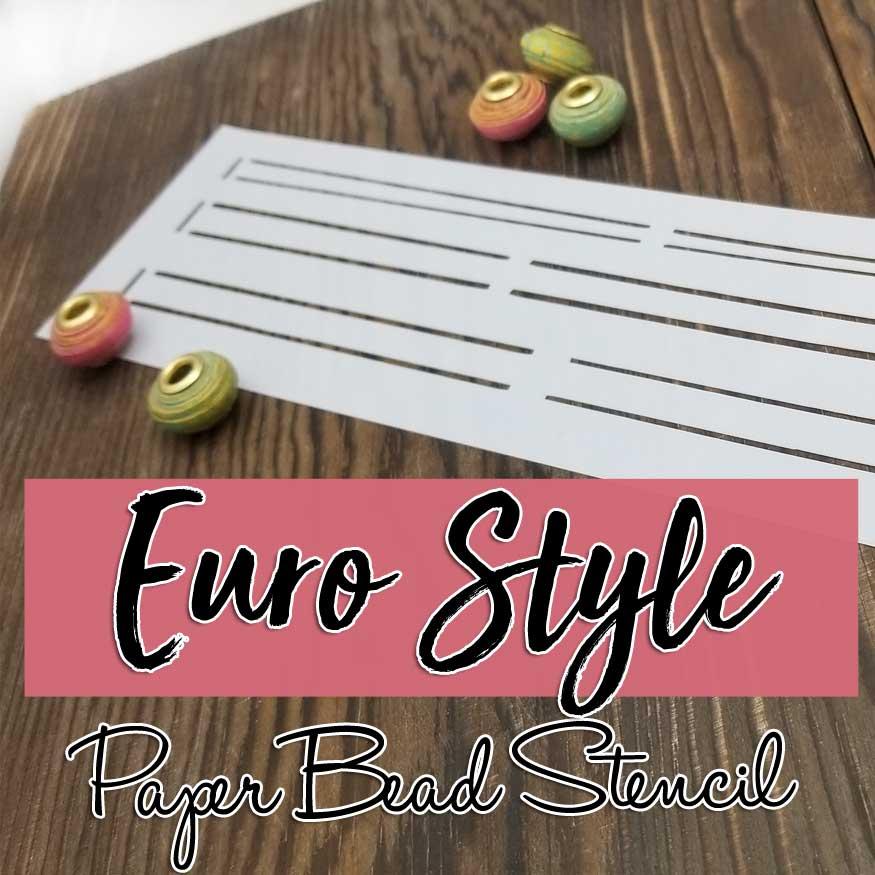 Slim Euro Style Paper Beads Stencil