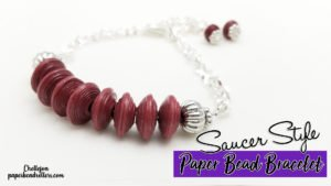 Saucer Style Paper Bead Bracelet