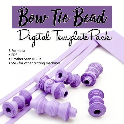 Bow Tie Paper Bead Digital Template Pack