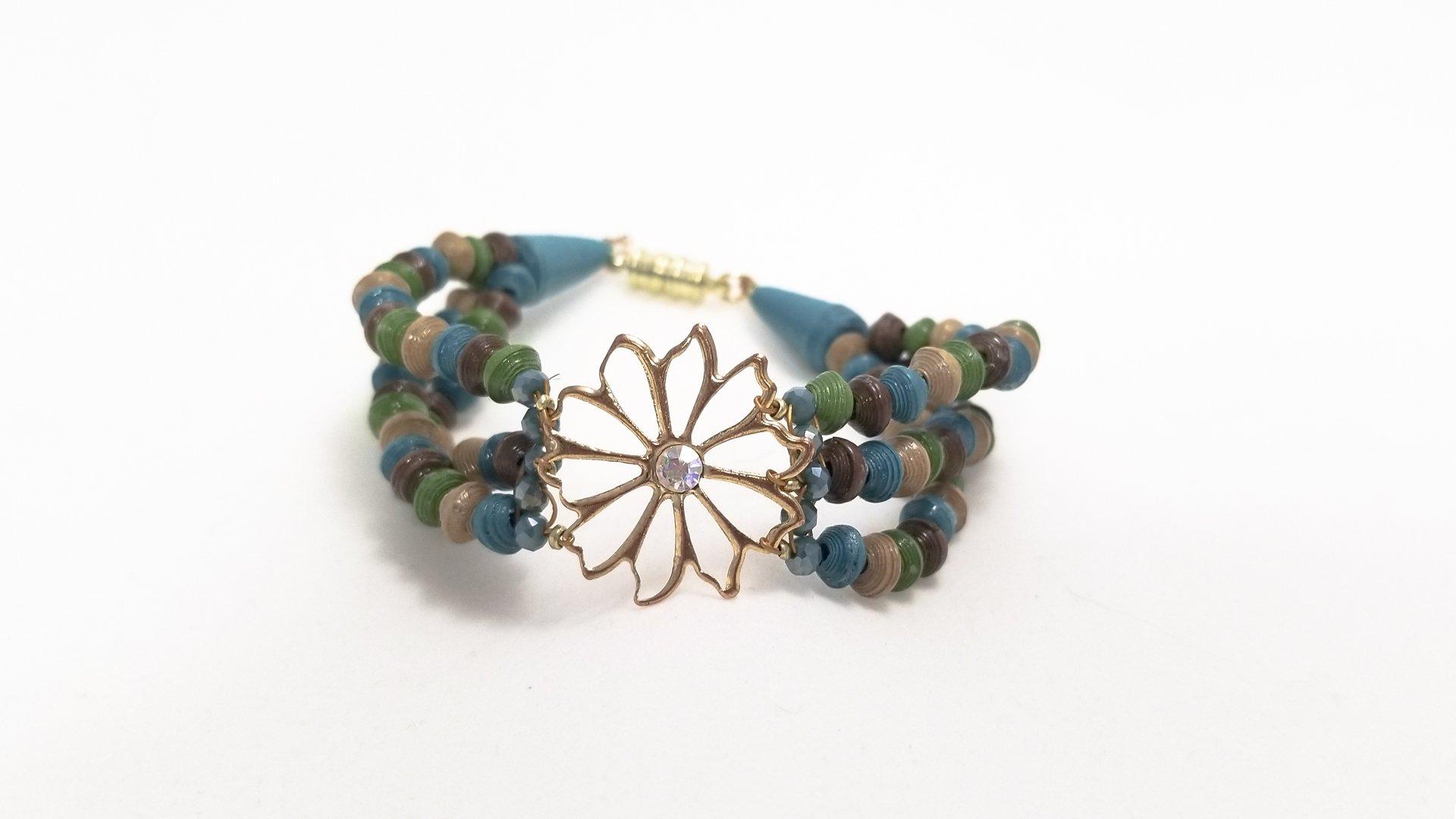 Multi-Strand Micro Paper Bead Bracelet Tutorial