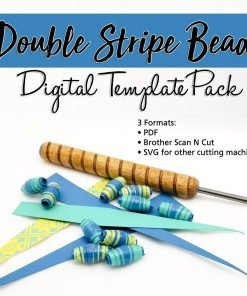 Double Stripe Paper Bead Cutting Template