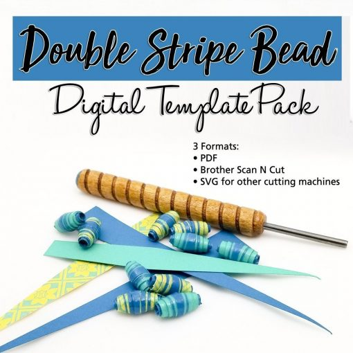 Double Stripe Paper Bead Digital Template Pack