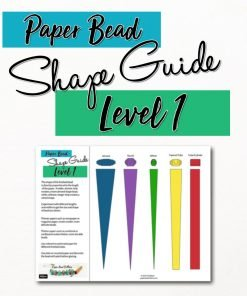 Paper Bead Template Shape Guide – Level 1