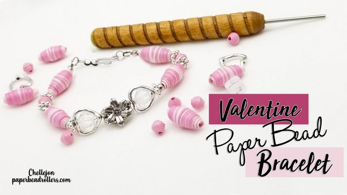 Paper Bead Valentine Bracelet