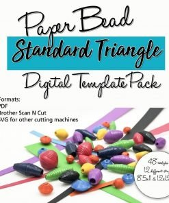 Standard Triangle Paper Bead Digital Template Pack