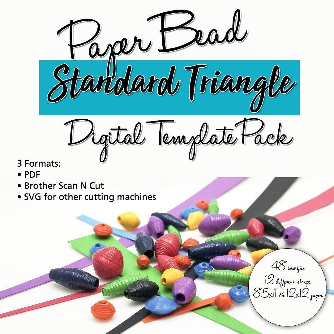 Standard Triangle Paper Bead Digital Template Pack