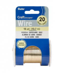 Darice Copper Wire 20 Gauge 15 yd – Gold