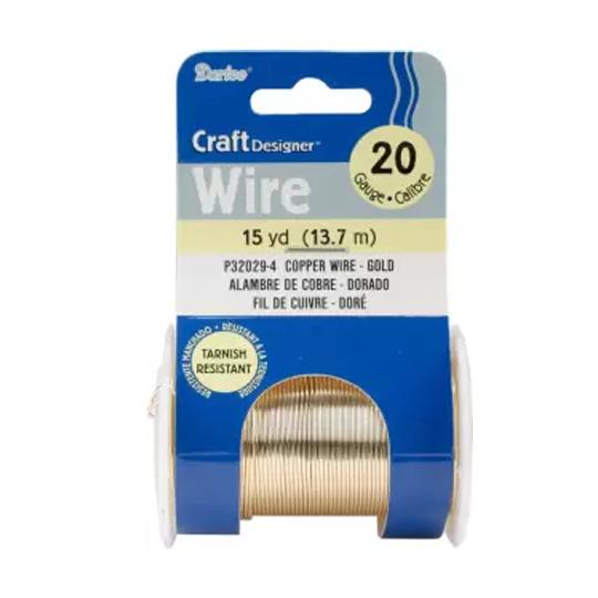Darice Copper Wire 20 Gauge 15 yd – Gold