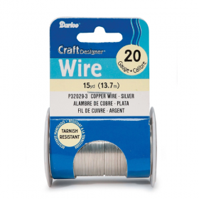Darice Copper Wire 20 Gauge 15 yd – Silver