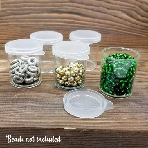 Clear Plastic Mini Bead Storage Containers