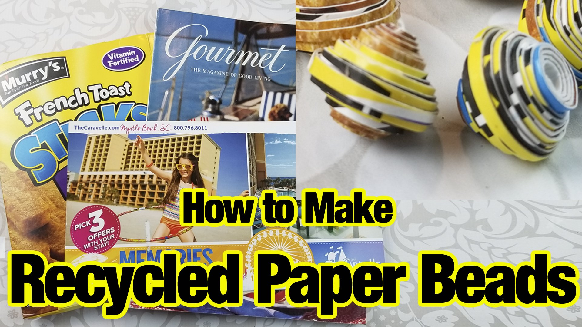 Making Beads from Recycled Paper