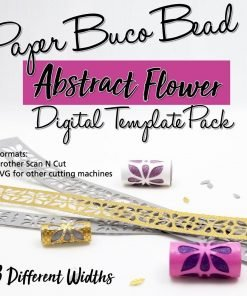 Abstract Flowers Digital Template Pack