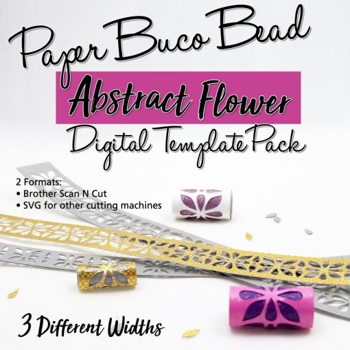 Abstract Flowers Buco Bead Digital Template Pack