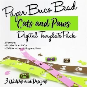 Cats & Paws Buco Bead Digital Template Pack