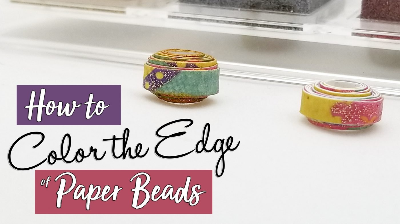 color the edge of paper beads