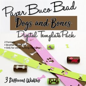 Dogs & Bones Buco Bead Digital Template Pack