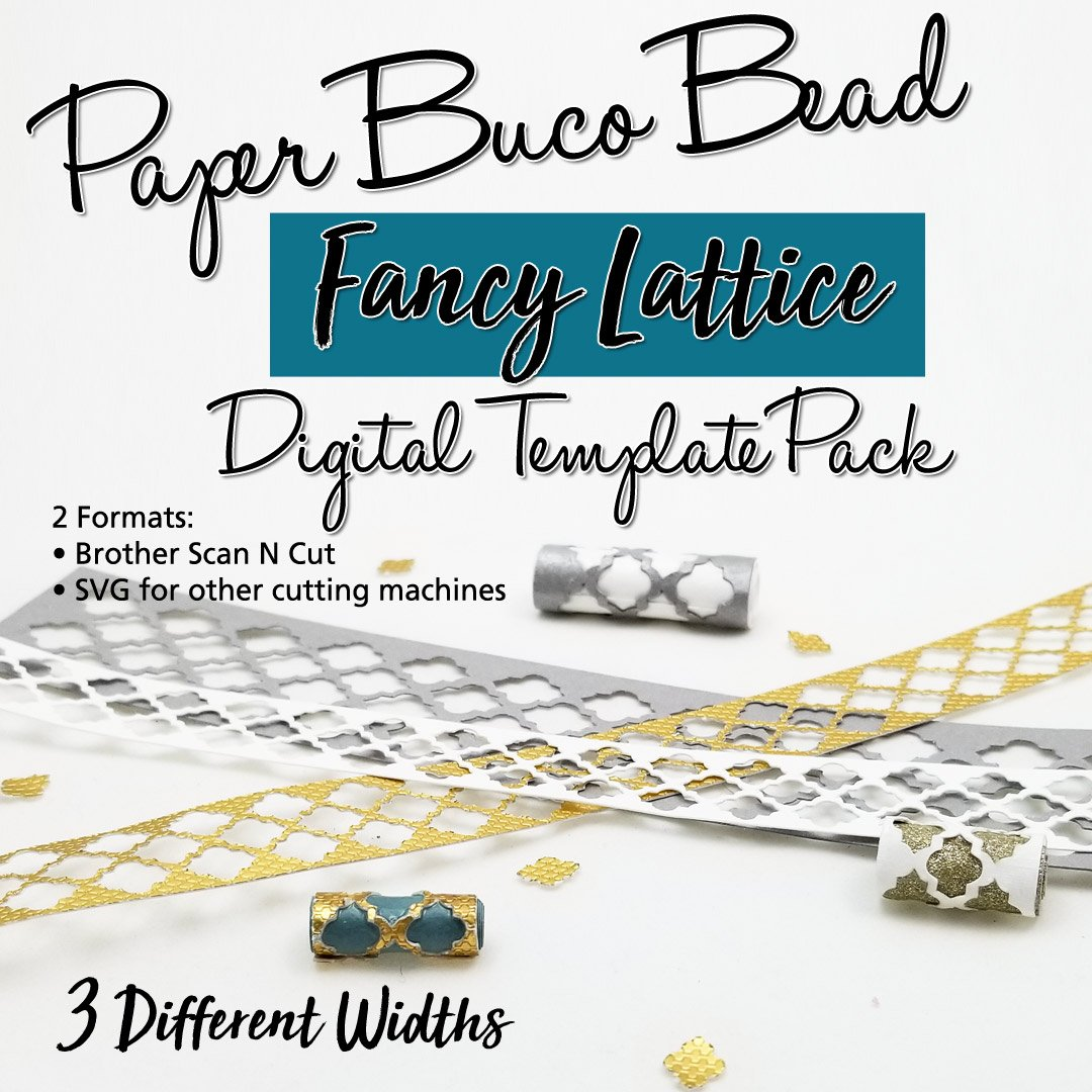 Fancy Lattice Buco Bead Digital Template Pack