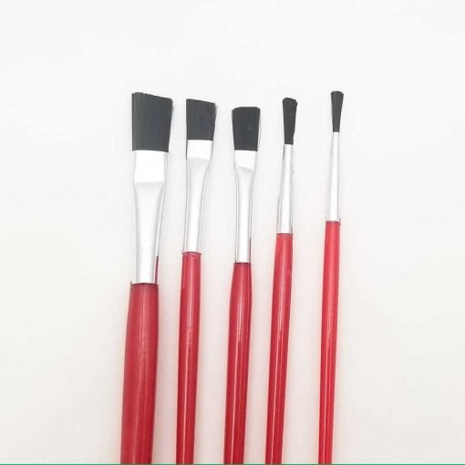 Flat Paint Brushes – Set of 5
