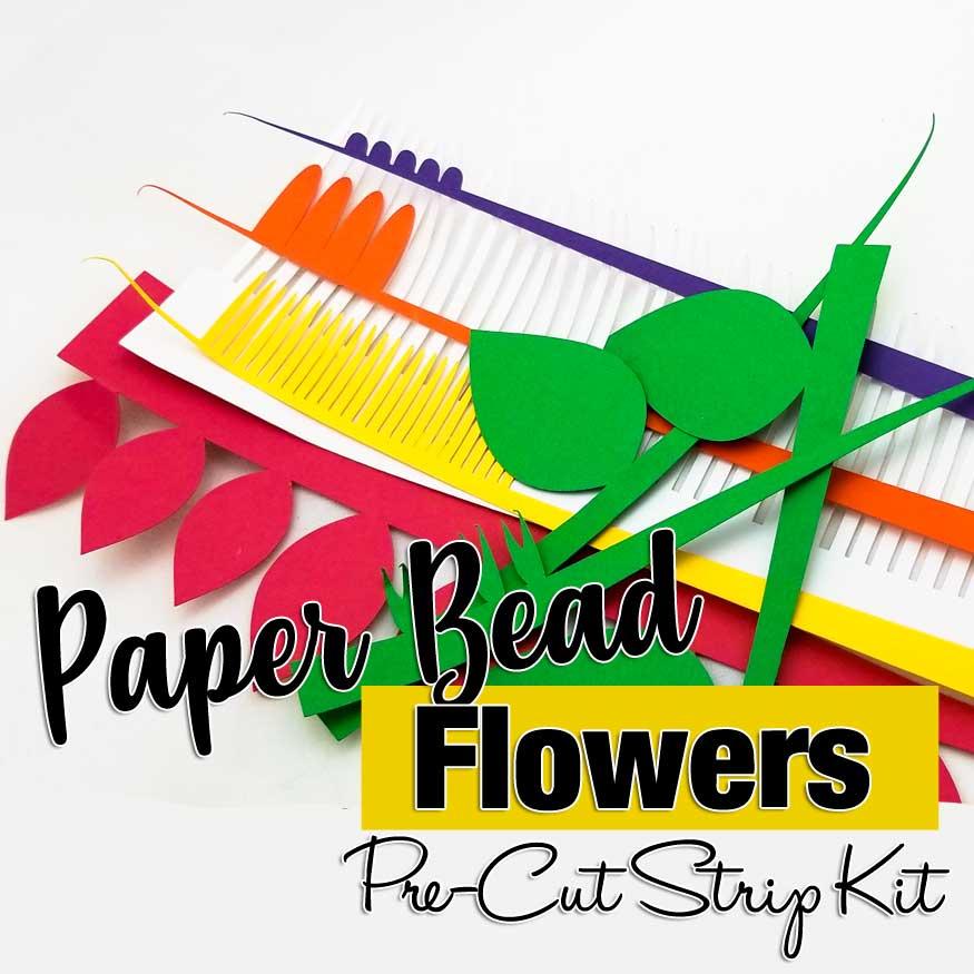 Paper Bead Flowers Paper Bead Making Kit