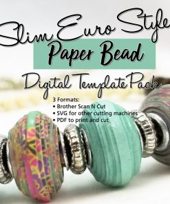 Euro Style Slim Paper Bead Template SVG