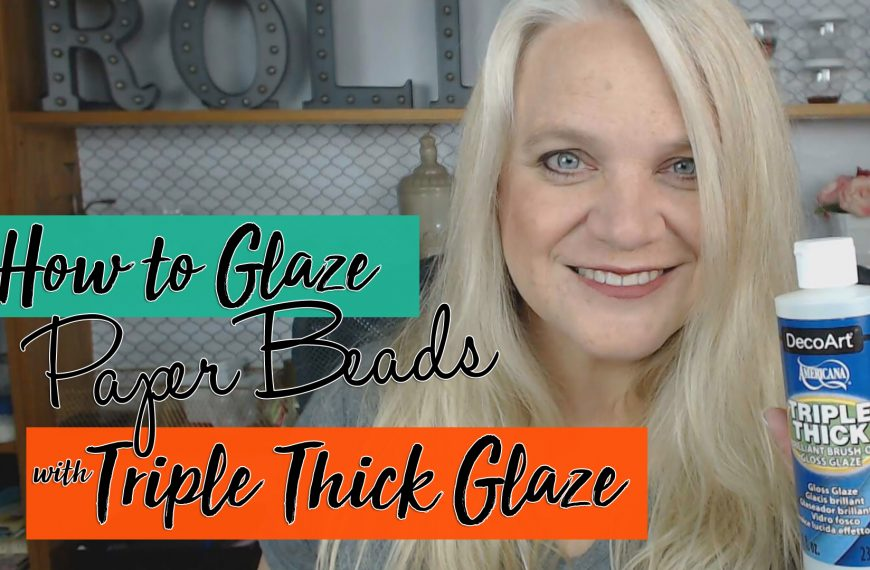 Triple Thick Glaze for Paper Beads