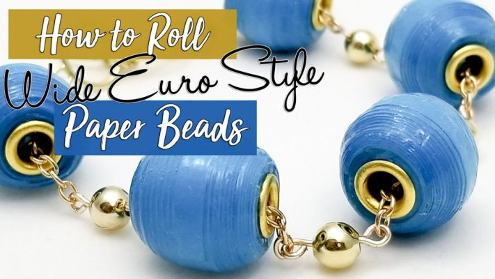 wide euro style paper bead