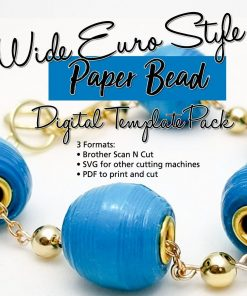 Euro Style Wide Paper Bead Template SVG