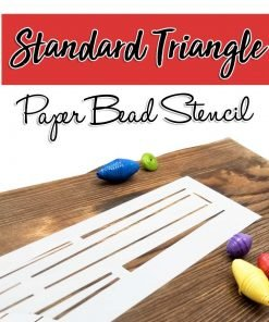 Standard Triangle Paper Beads Stencil