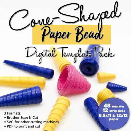 Cone Paper Bead Digital Template Pack
