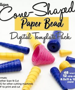 Cone Paper Bead Digital Template Pack