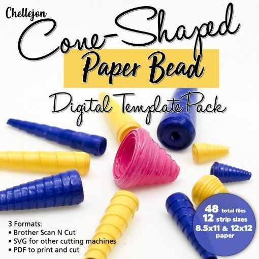 Cone Shaped Paper Bead Cut Files