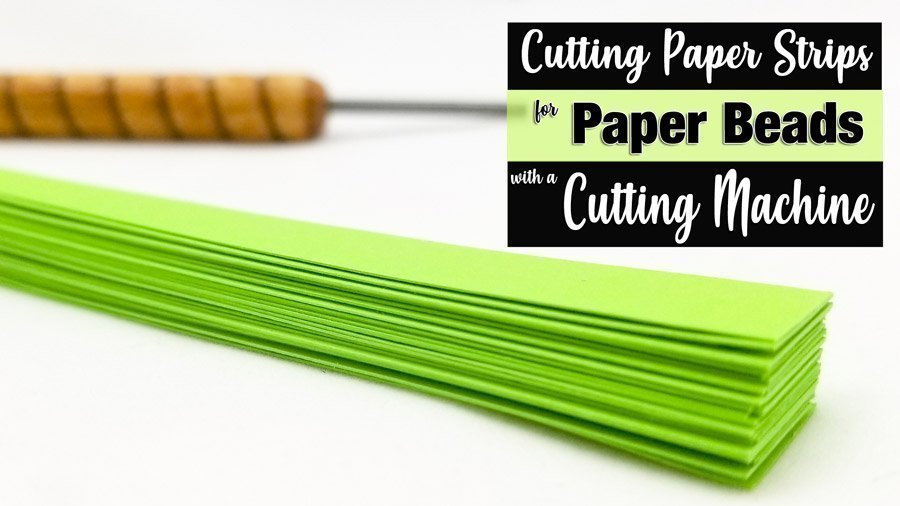 Cutting Paper Bead Strips with a Cutting Machine