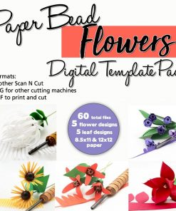 Paper Bead Flowers Template