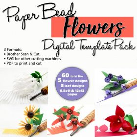 Paper Bead Flowers Digital Template Pack