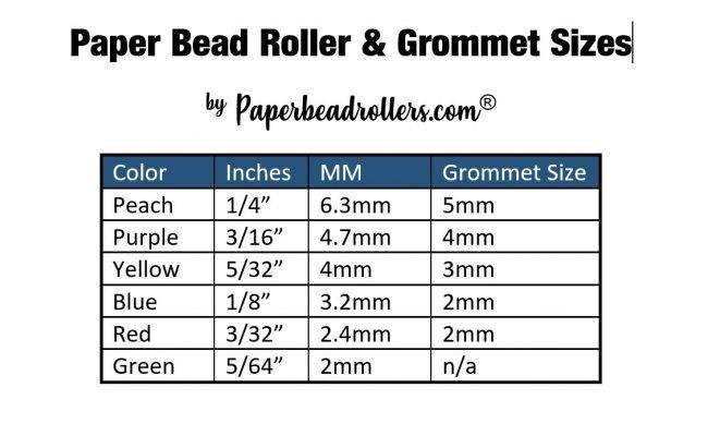 Paper Bead Roller Measurement Conversions