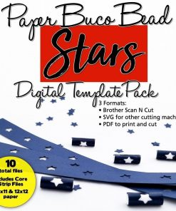 Stars Buco Bead Digital Template Pack