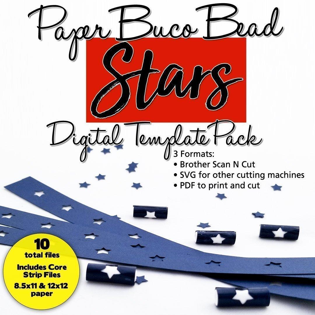 Stars Buco Bead Digital Template Pack