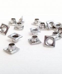 Square Silver Bead Cores 1/8″