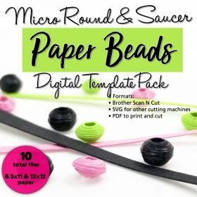 Micro Bead Digital Template Pack – Saucers & Rounds
