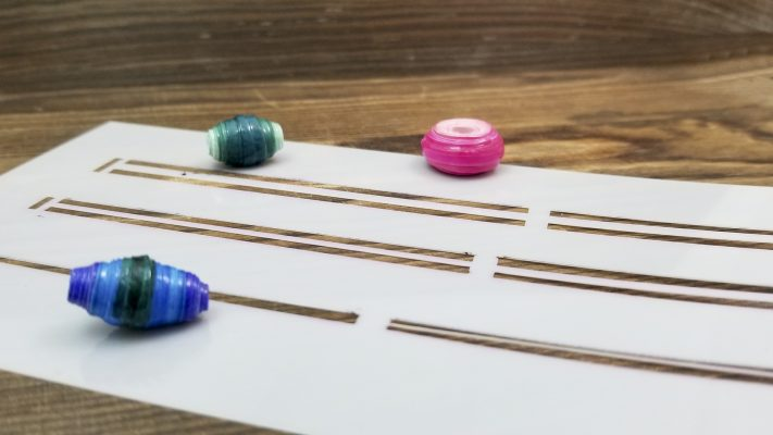 Paper Bead Stencil Techniques