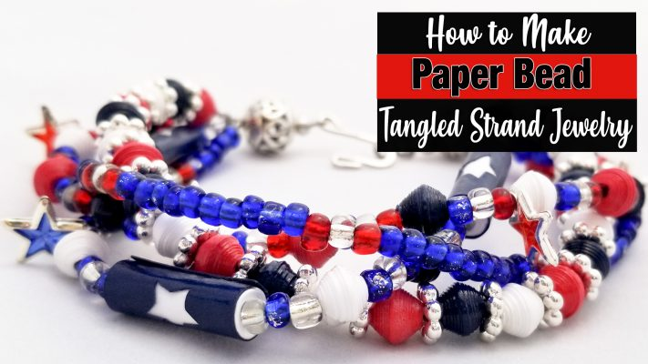 Multi-Strand Paper Bead Jewelry