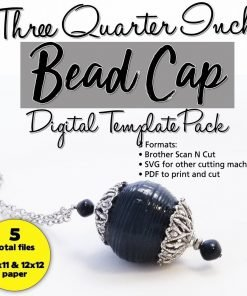 Paper Beads that fit Bead Caps