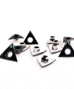 Triangle Shaped Black Bead Cores 1/8″