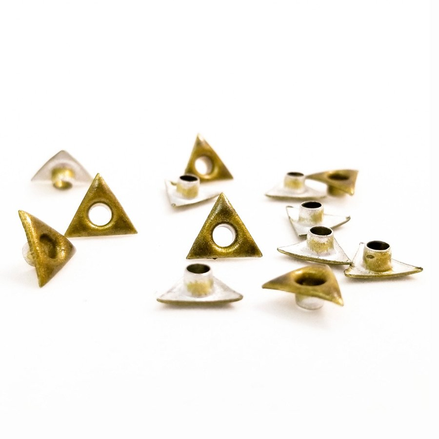 Triangle Shaped Gold Bead Cores 1/8″