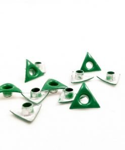 Triangle Shaped Green Bead Cores 1/8″