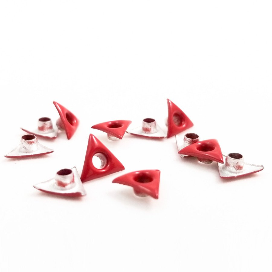 Triangle Shaped Red Bead Cores 1/8″