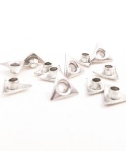 Triangle Shaped Silver Bead Cores 1/8″