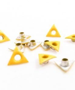 Triangle Shaped Yellow Bead Cores 1/8″